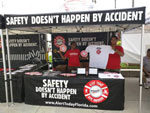 FDOT's Alert Today Alive Tomorrow program outreach at a Tampa Bay Buccaneers football game
