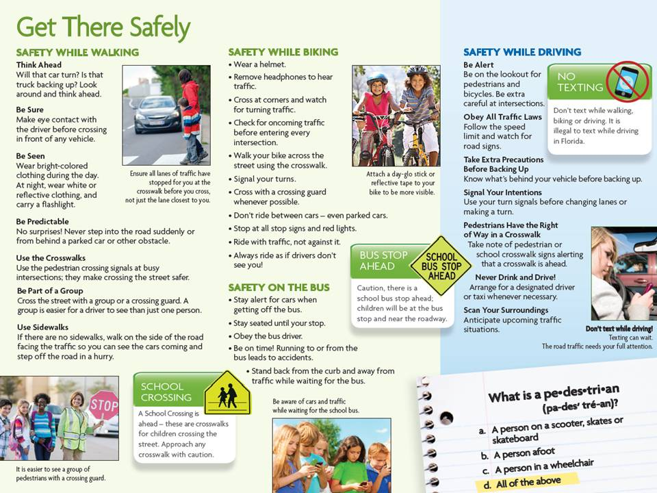 Pinellas County MPO's Pedestrian Safety Awareness Week brochure